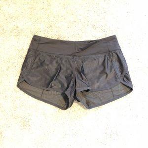 Lululemon Black Mesh Speed Shorts Size 6